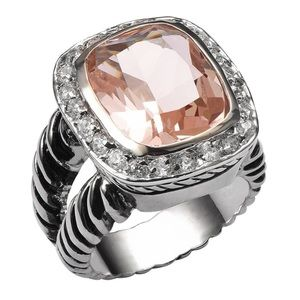 💕Huge Morganite ring
